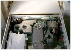 Washer dryer top view