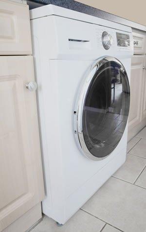 Washing machine sticks out